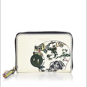 Tory Burch Peggy the Pig Zip Around Coin Case NWT